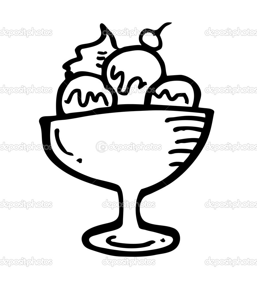 896x1024 Best Photos Of Ice Cream Cup Drawing