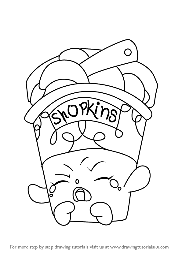 596x843 Learn How To Draw Ice Cream Dream From Shopkins (Shopkins) Step By