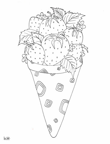 367x480 Strawberry Ice Cream Coloring Page Free Printable Coloring Pages