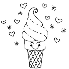230x230 Top 25 Free Printable Ice Cream Coloring Pages Online