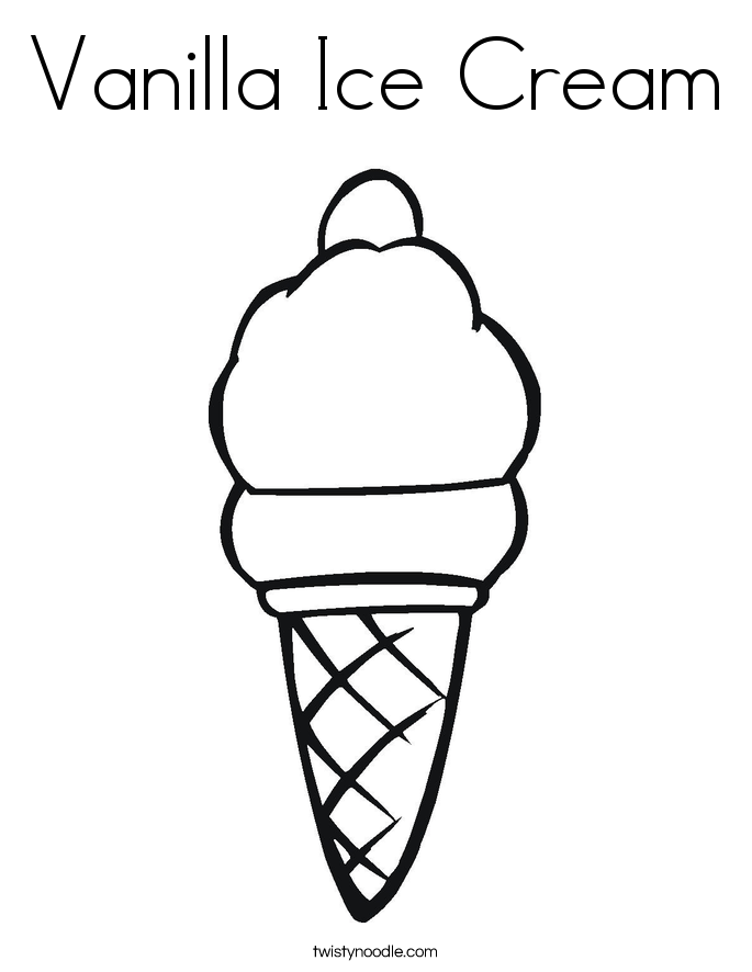 685x886 Vanilla Ice Cream Coloring Page
