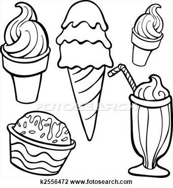 Ice Cream Drawing Cartoon