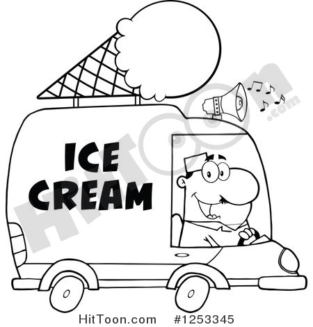 Ice Cream Drawing Cartoon on car digital art