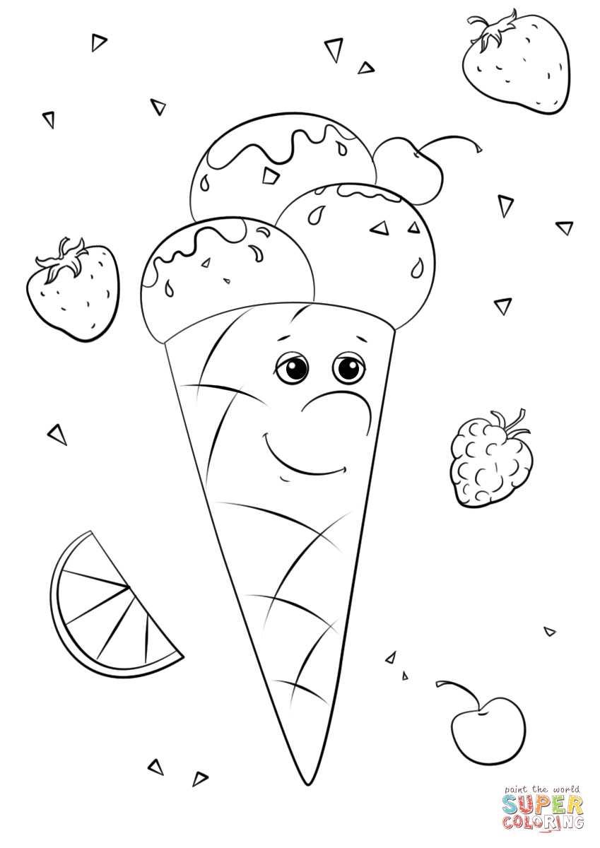 849x1200 Ice Cream Character Coloring Page Free Printable Coloring Pages
