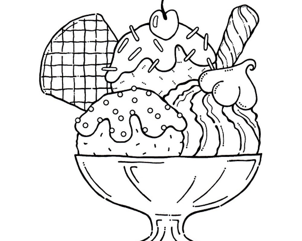 1000x800 Modest Ice Cream Pictures To Color 6