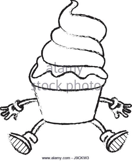 445x540 Cartoon Ice Cream Black And White Stock Photos Amp Images