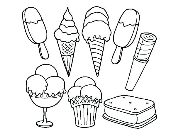 600x464 Ice Cream Coloring Page To Download Fancy Draw Shopkins Cake Pages