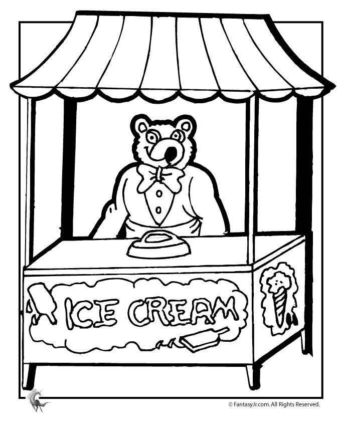 680x880 Ice Cream Shop Coloring Page