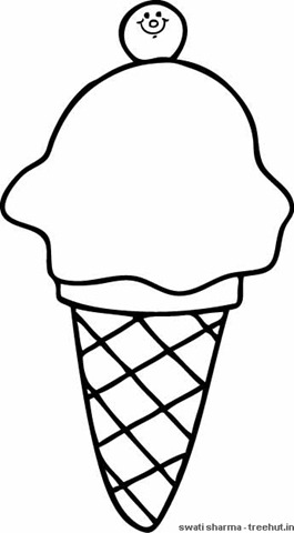 265x480 Softy Ice Cream Coloring Page
