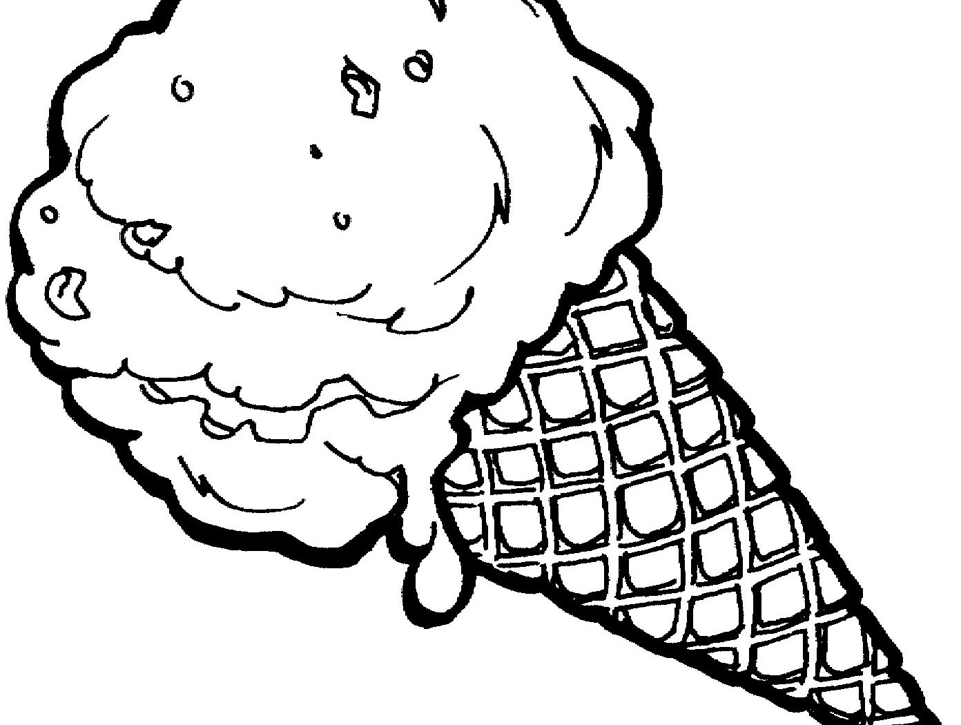 1392x1050 Ice Cream Coloring Page To Download Kids Free Sundae Pages Cake
