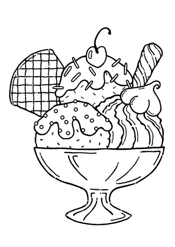 595x842 Coloring Pages For Girls And Up Icecream Preschool In Good Draw