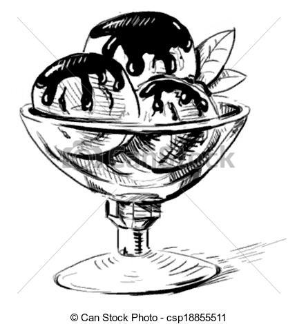 430x470 Drawn Ice Cream Dessert