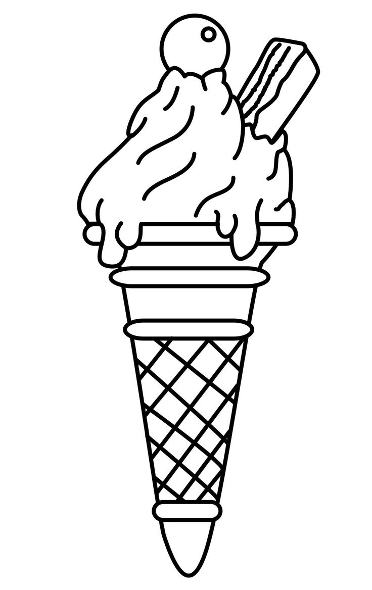 736x1168 Delicious Food Ice Cream Coloring Pages