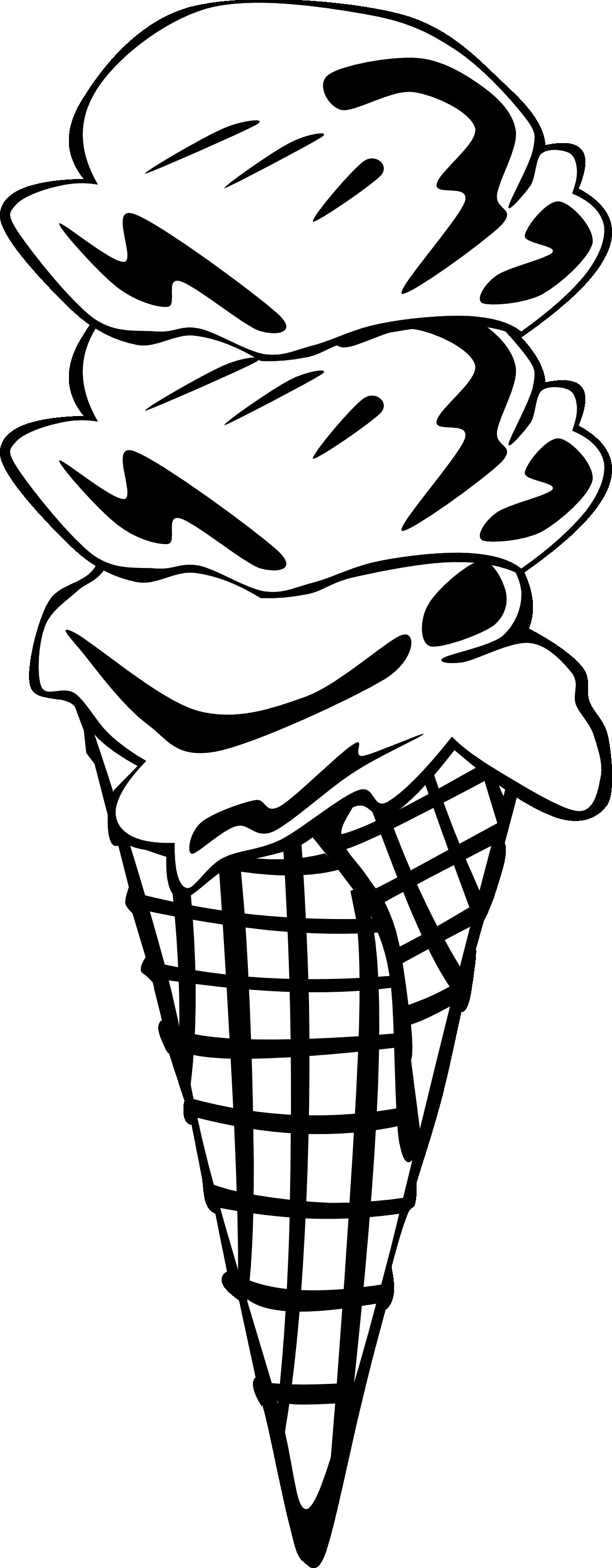 1331x3407 Ice Cream Social Clipart Black And White Clipart Panda