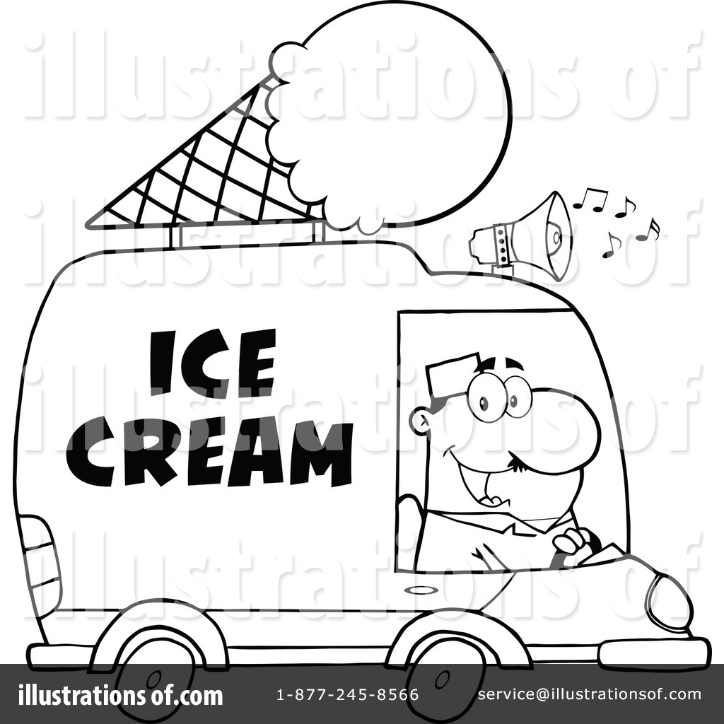 1024x1024 Ice Cream Truck Clipart