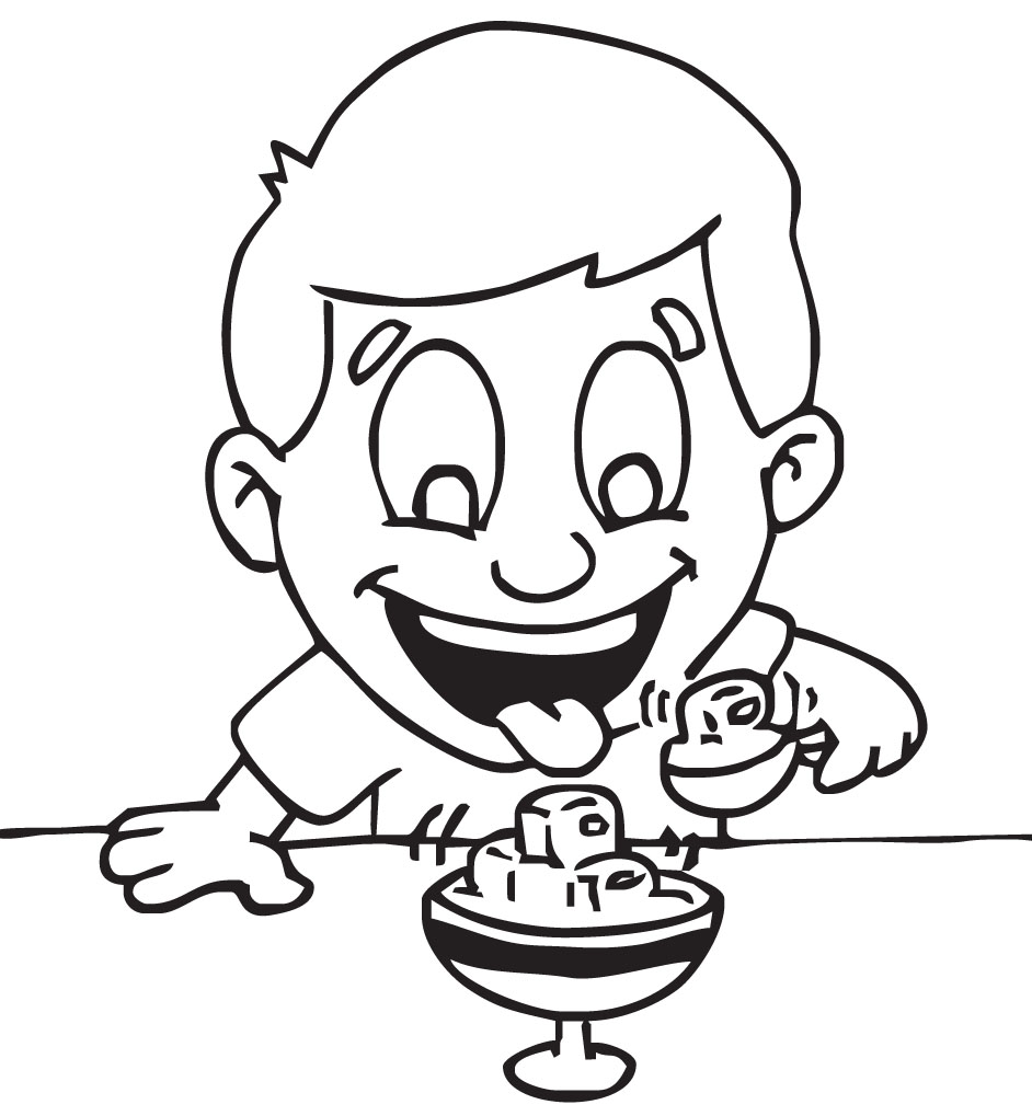 942x1019 Eating Ice Cream Clipart Black And White