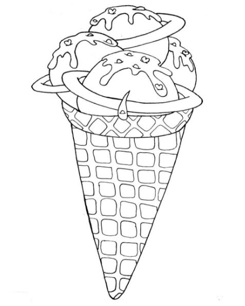 477x595 Ice Cream Coloring Page Free Drawing Board Weekly