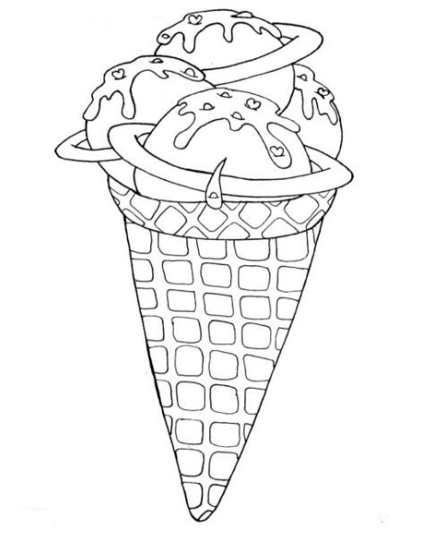 477x595 The Best Ice Cream Coloring Pages Ideas On Ice