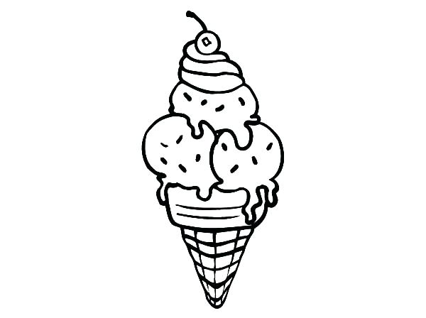 600x448 3 Scoop Ice Cream Coloring Page Plus Ice Cream Colouring Page 2