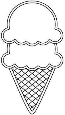226x399 27 Images Of Scoop Ice Cream Cone Template