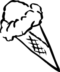 246x297 Ice Cream Scoop Clipart Black And White Clipart Panda