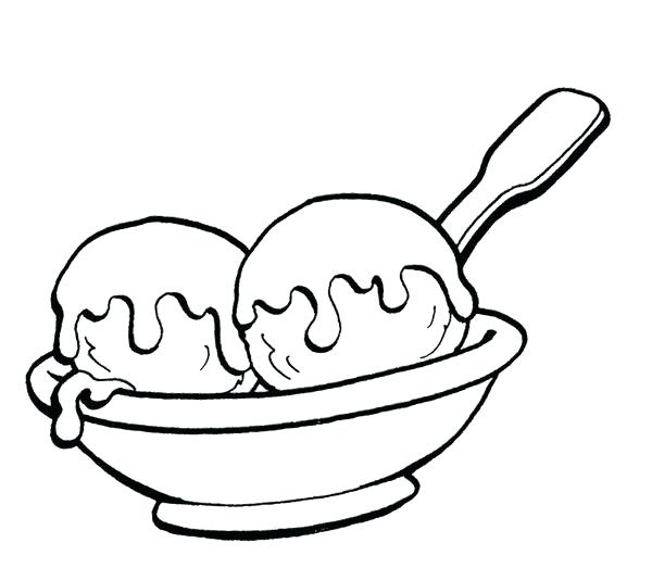 600x523 3 Scoop Ice Cream Coloring Page Plus Drawn Ice Cream Scoop 557
