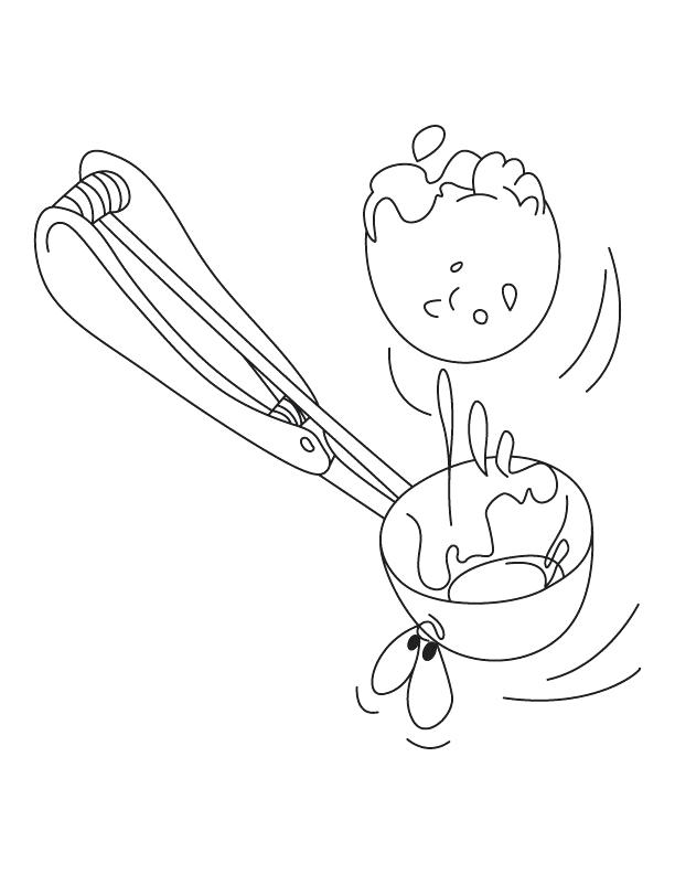 612x792 Scoop Of Ice Cream Coloring Page Together With 279