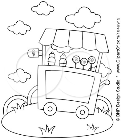 393x450 Best Photos Of Ice Cream Parlor Coloring Page