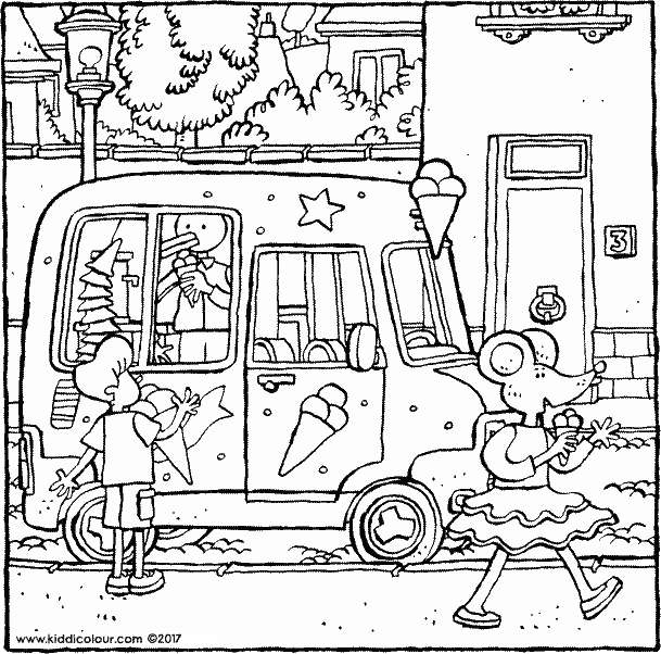 609x602 Ice Cream Colouring Pages