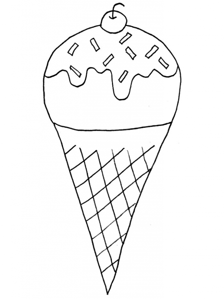 768x1024 Ice Cream Coloring Pages