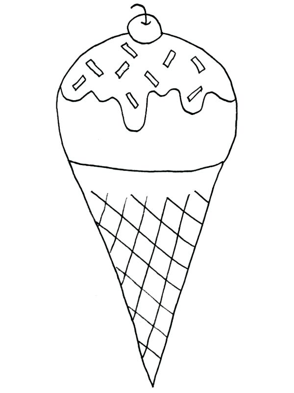 600x800 Ice Cream Pictures To Color Banana Split And Ice Cream Coloring
