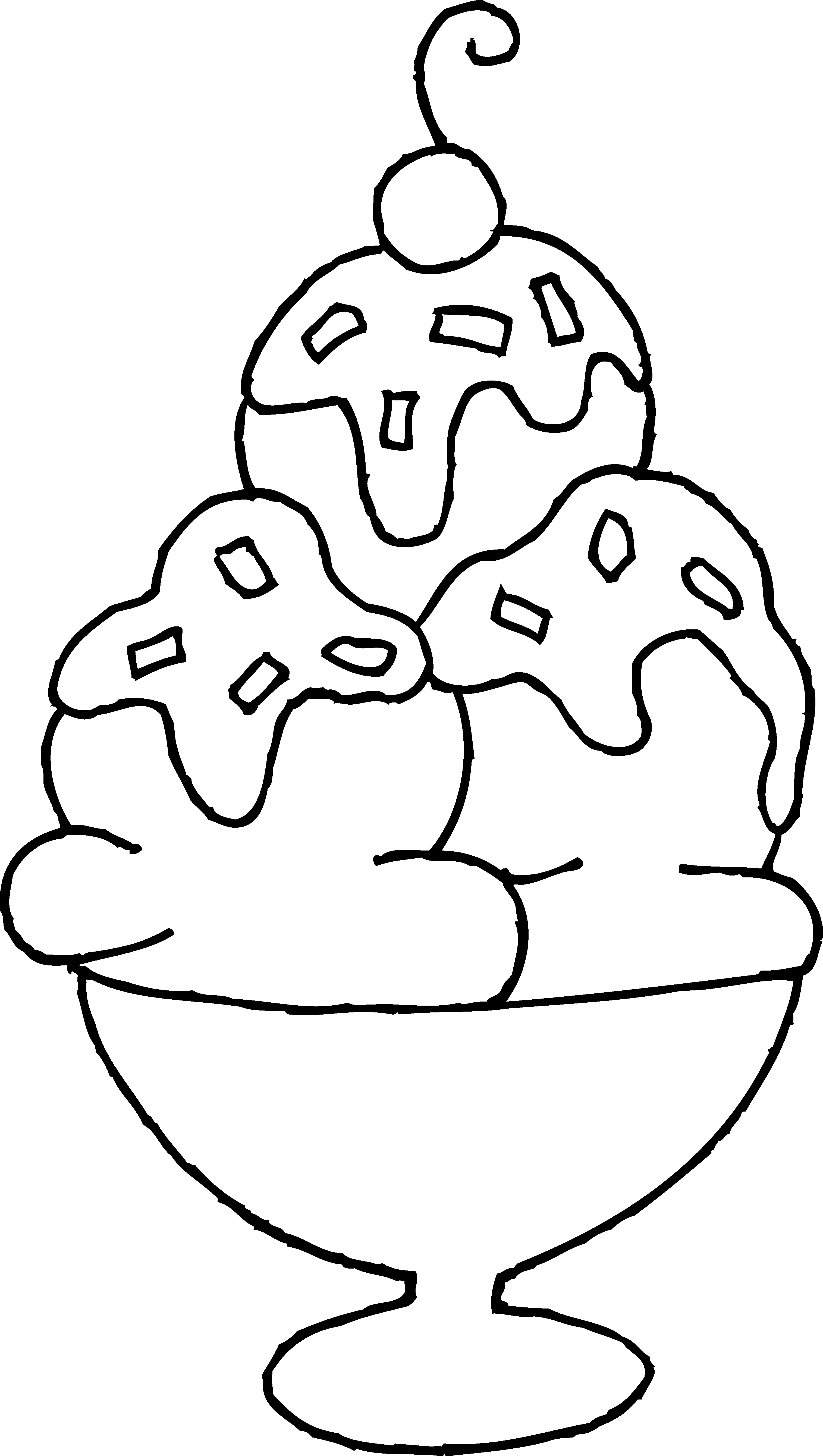 3030x5360 Ice Cream Sundae Coloring Page