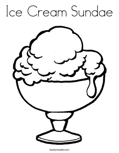 468x605 Ice Cream Sundae Coloring Page