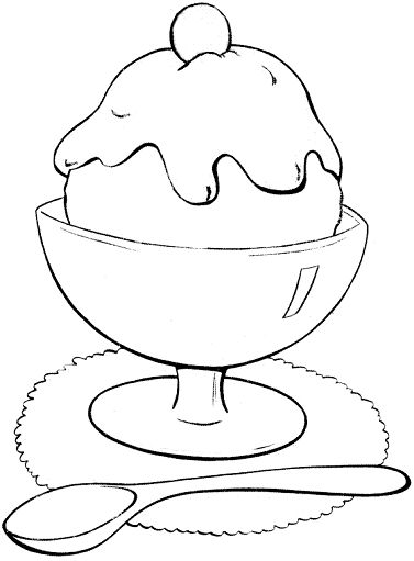 377x511 The Best Ice Cream Coloring Pages Ideas On Ice