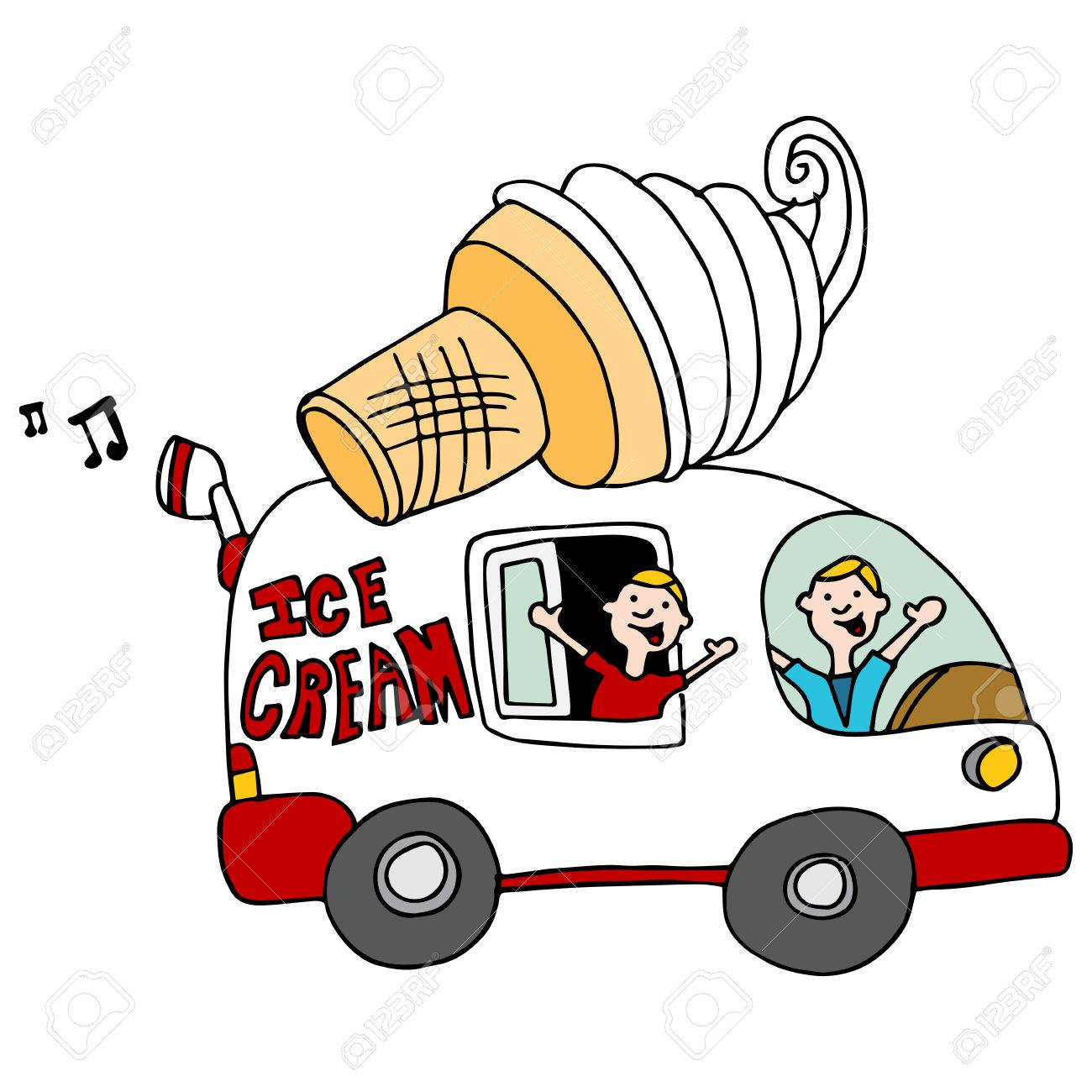 1300x1300 An Image Of An Ice Cream Truck. Royalty Free Cliparts, Vectors