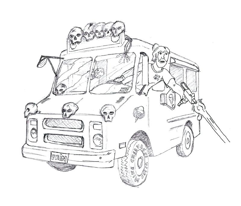 800x682 Ice Cream Truck Coloring Also Ice Cream Truck Coloring Pages 922