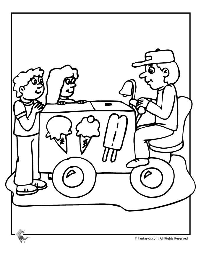 680x880 Ice Cream Truck Coloring Page