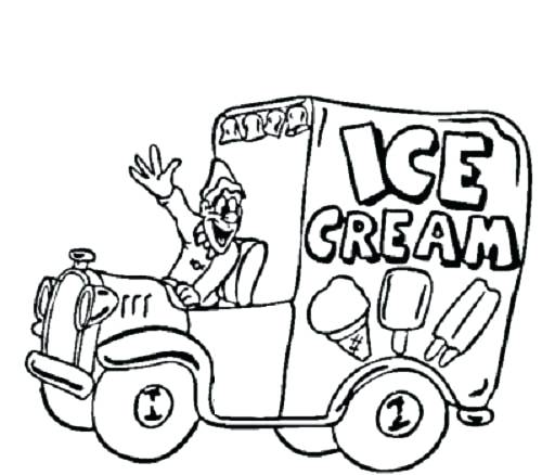 500x438 Ice Cream Truck Coloring Pages Plus Ice Cream Truck Coloring Pages