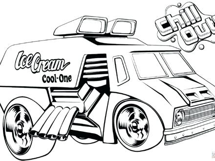 440x330 Ice Cream Truck Coloring Sheet And Hot Wheels Ice Cream Truck