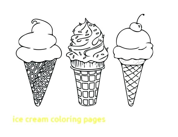 570x440 Ice Cream Coloring Pages Affan