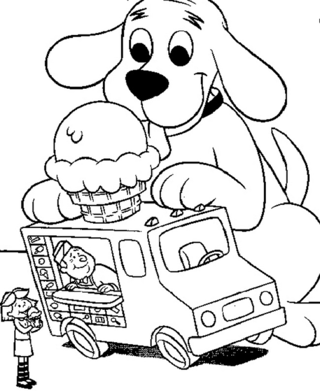 650x794 Ice Cream Truck Coloring Pages Coloring Pages