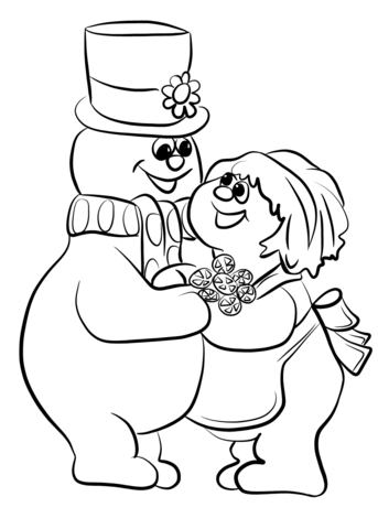 343x480 Frosty The Snowman With Crystal Coloring Page Free Printable