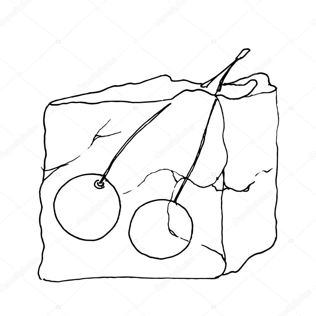 1024x1024 Ice Cube Frozen Cherries Stock Vector