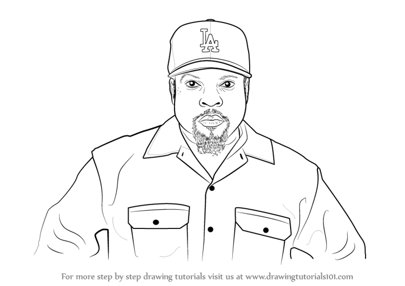 800x566 Learn How To Draw Ice Cube (Rappers) Step By Step Drawing Tutorials