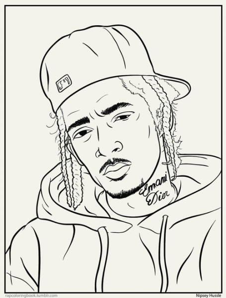 455x600 Rap Colouring Book