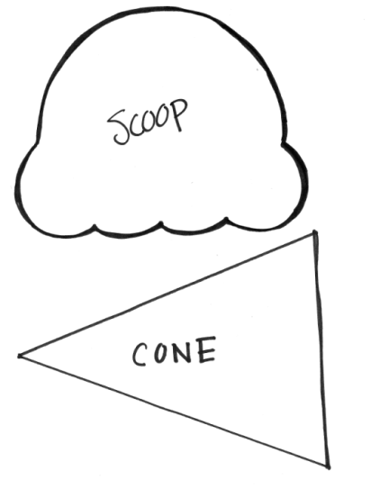 412x543 Ice Cream Cone Template . Play Freeze Or Melt Game Too