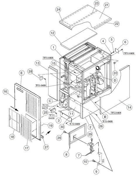 Ice Maker Hoshizaki Machine Parts Diagram