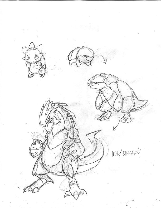 677x875 Fakemon Ice Dragon By Nyausi
