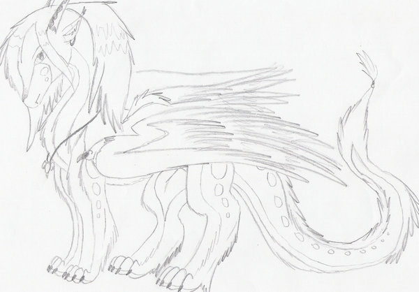 600x418 Furry Ice Dragon By Annawolfe
