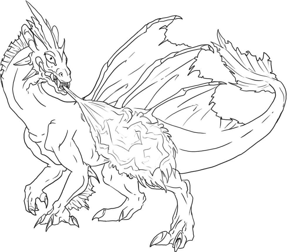 978x860 Ice Dragon Coloring Pages